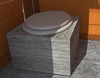 Baño Seco con Caja Móvil