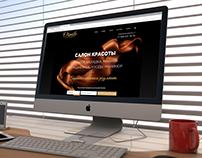 """Webseite """"Schönheitssalon"""" Сайт """"Салон Красоты"""""""