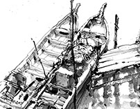 Sketches at Fishing Village02-June2015