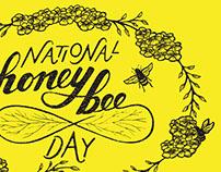 National Honey Bee Day 2015 Postcard