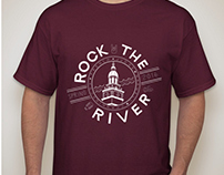 Rock the River T-Shirt Design