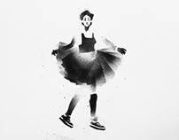 Noir de Monde 2 - Stencil illustration series