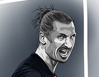 Zlatan Ibrahimović Illustration process