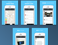 iOS app store screenshots design