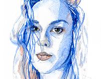 Aquarelle self portrait