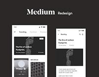 Medium Redesign.
