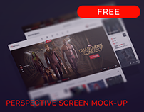 Perspective Screen Mock-Up (free).