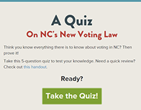 NC's New Voter Law Quiz