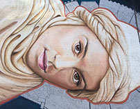 Rey Solo Chalk Art Portrait