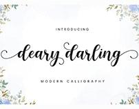 FREE | Dear Darling Modern Calligraphy
