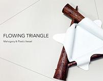 Flowing Triangle-wood&plastic vessel
