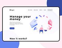 Money Management App Landing Page