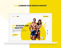 Gym Landing Page Design