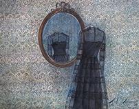 """""""Mirror"""" watercolor 63x53 sm"""