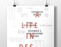 Event Poster / A Life in Design: Portfolio Review