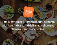 UX design for Taro - an ethnic food marketplace