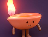 Pinterest Diwali Mascot