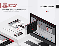 Web site - Universidad del Rosario / Educación continua