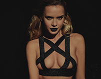 Gata Negra lingerie Campaign / adore noir