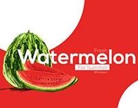 Fresh Watermelon Digital concept art poster