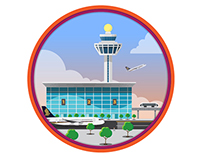 Animated airport icons