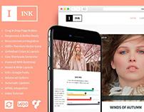 Ink Blog WordPress Theme - Features