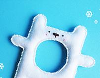 """""""Teddy Bear"""" polar bear bracelet"""