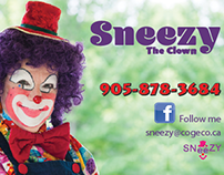 Gilles paquette on behance sneezy the clown business cards colourmoves