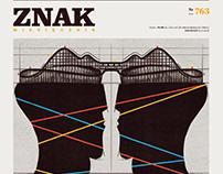 ZNAK_miesięcznik cover /various illustrations/