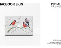 MacBook Skin Mockup Set