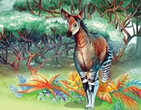 The shy okapi