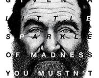 Robin Williams Stippled Portrait