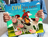 "A New Children's Book ""The Cow on Two Farms"""