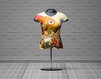 Female T-Shirt Mannequin Mock-Up
