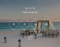 Wedding WordPress Themes - Home-Page Count-Down Section