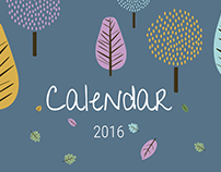 Illustrated Calendar 2016