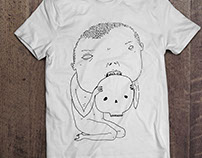 T-shirt handmade illustration