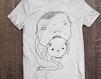 T-shirt handmade illustration