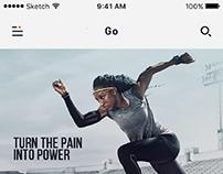 A fitness app UI