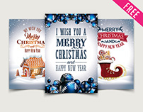 Free Christmas Cards IN PSD