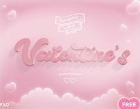 Valentines Free PSD Mockup vol.2