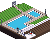 Swimming Pool | Voxel Building