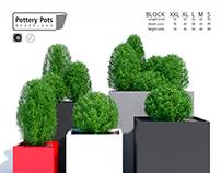 3d modeling & visualization PotteryPots Block