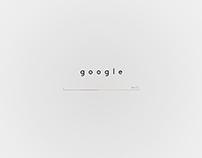 Google Homepage Design Concept