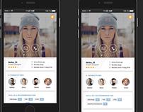 Designer Profile page