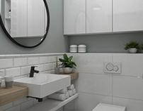Small scandi bathroom