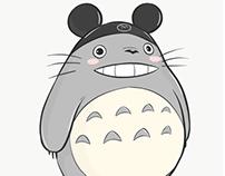 Totoro Visits Disneyland