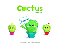 Cactus Lifestyle sticker pack for Messengers