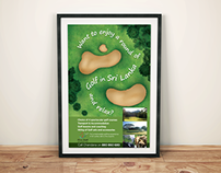Poster on Sri Lankan Golf