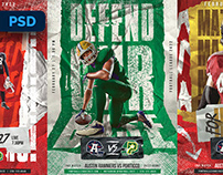 American Football Flyers Pack - PSD Templates